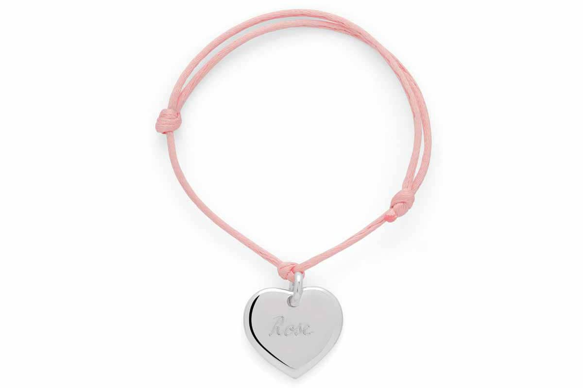Bracelet coeur breloque argent - Atelier de Famille