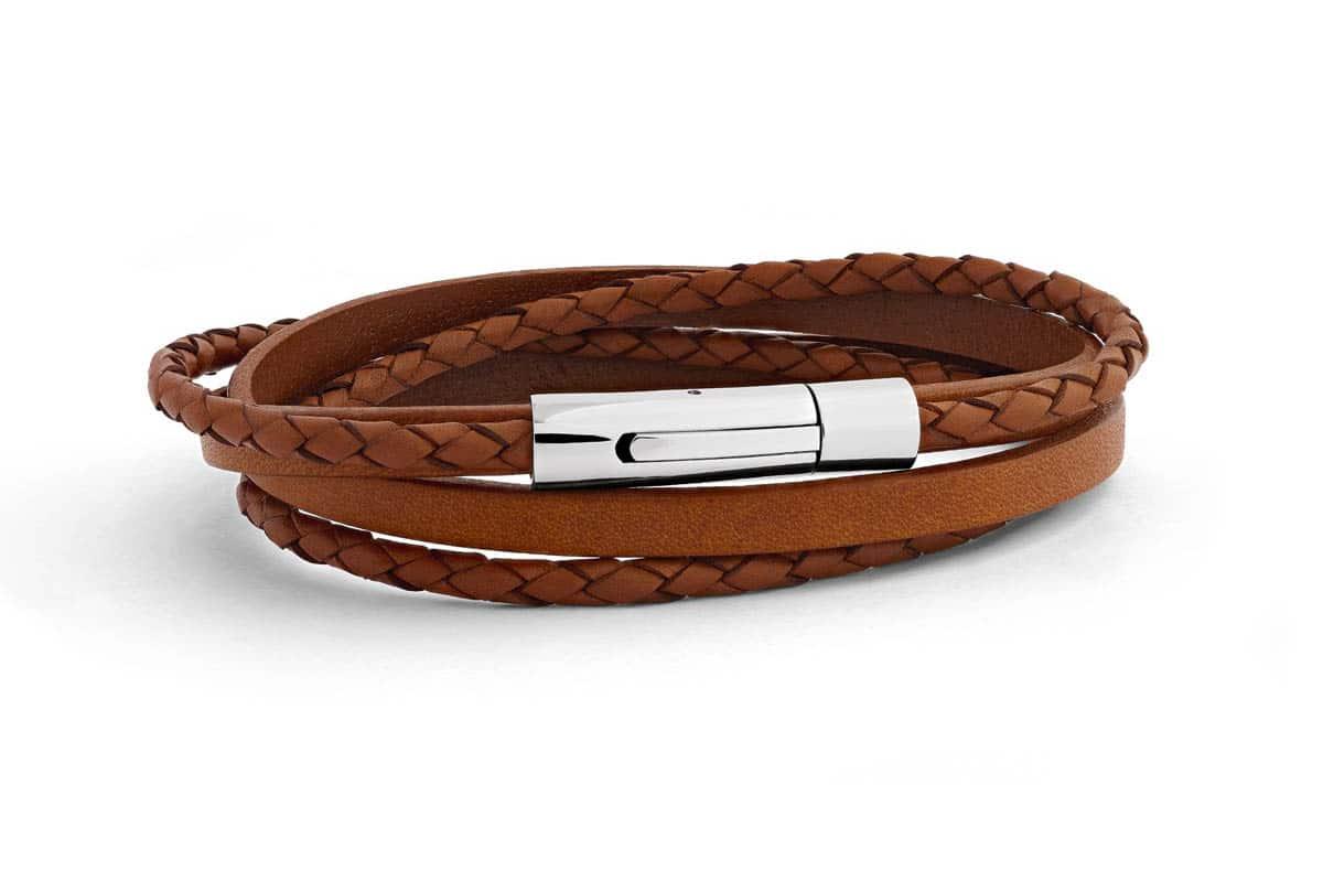 Bracelet tresse cuir Atelier de Famille