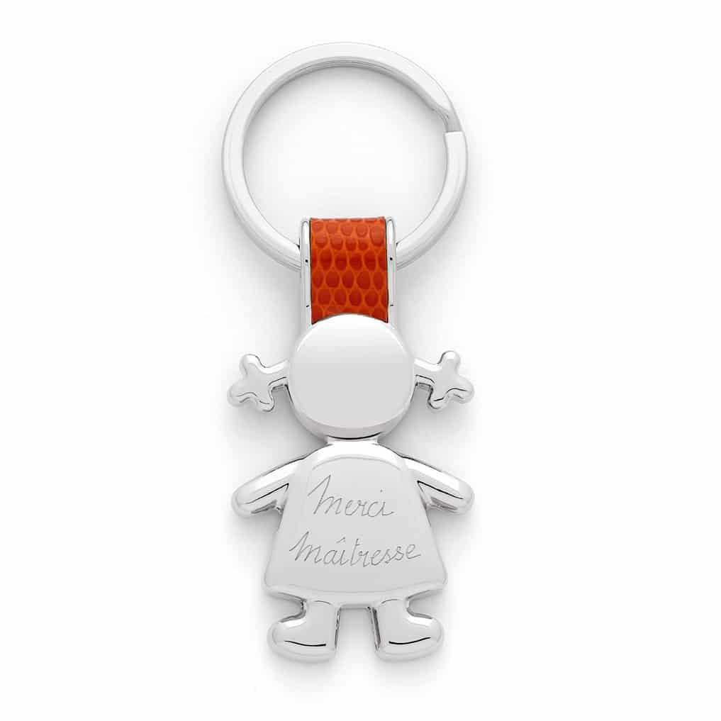 Porte clés acier cuir a graver - Atelier de Famille