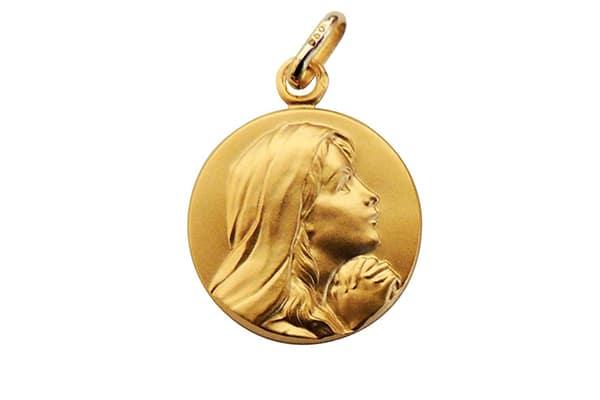 Medaille vierge marie Atelier de Famille
