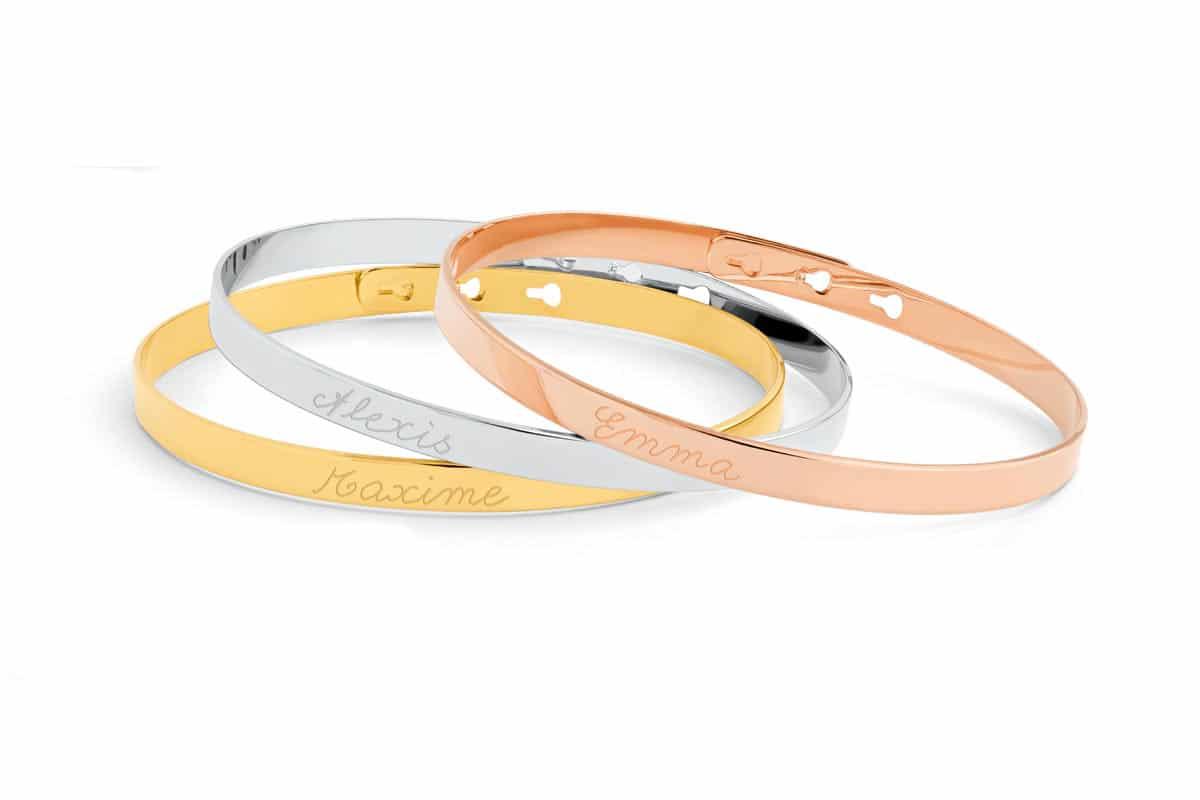 Bracelet trio joncs fins Atelier de Famille