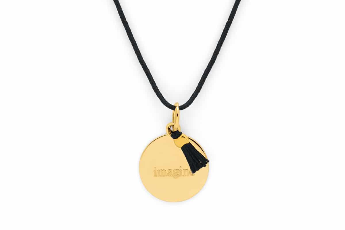 Collier petite medaille pompon Atelier de Famille