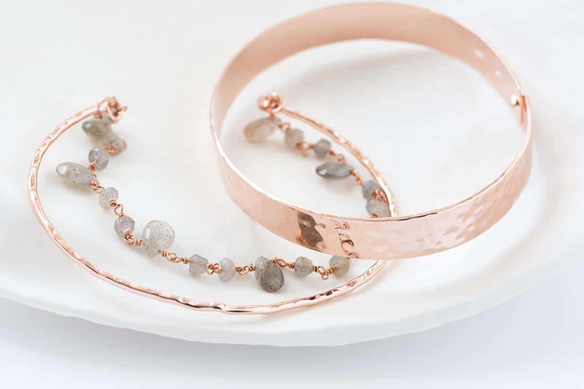 Bracelets plaque or rose Atelier de Famille