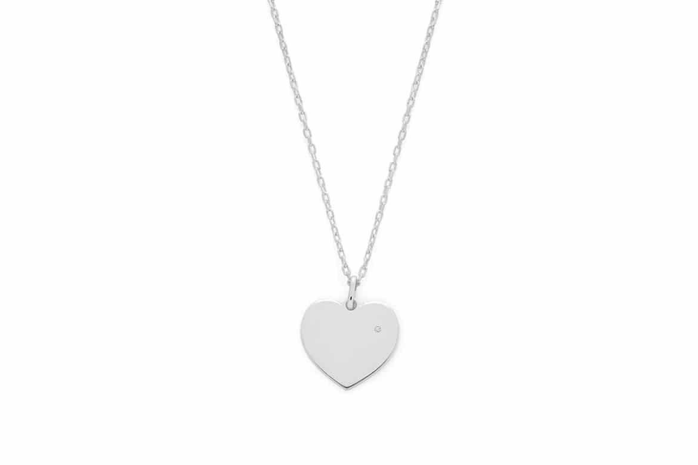 Collier pendentif coeur diamant Atelier de Famille