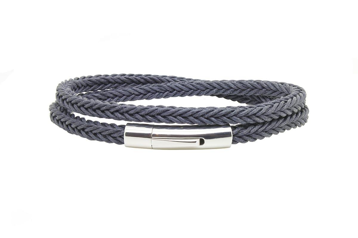 Bracelet tresse bleu Atelier de Famille