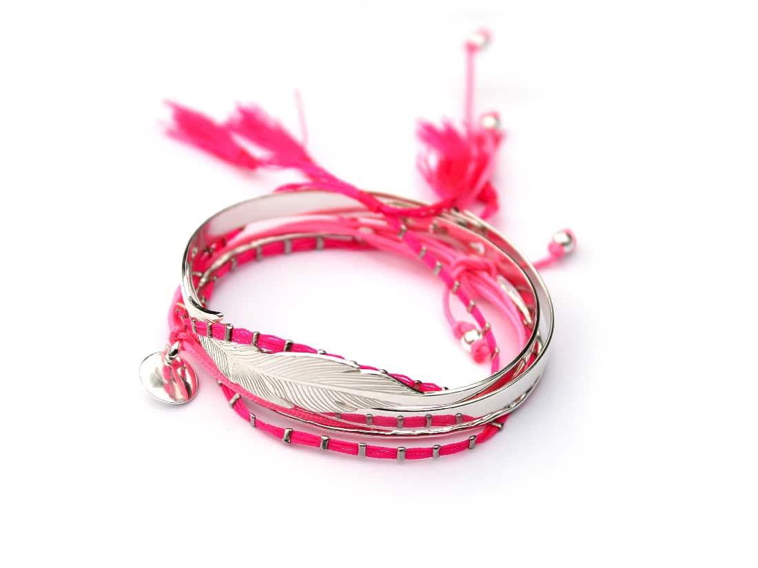 Assortiment bracelets roses Atelier de Famille