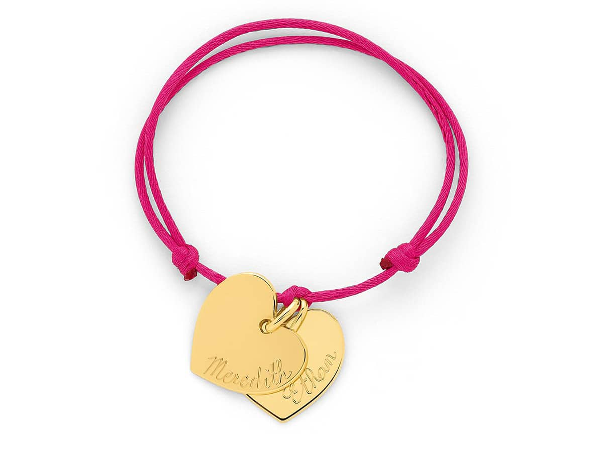 Bracelet cordon coeurs Atelier de Famille