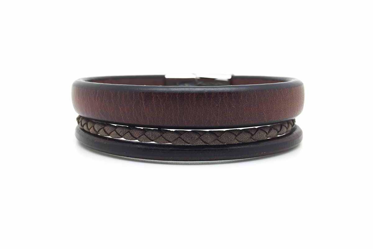 Bracelet cuir manchette Atelier de Famille
