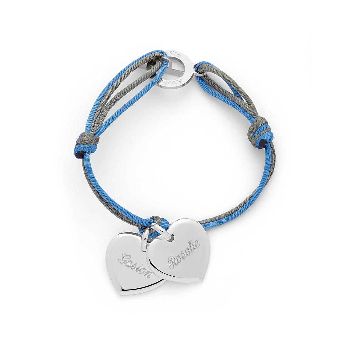 Bracelet cordon coeur Atelier de Famille