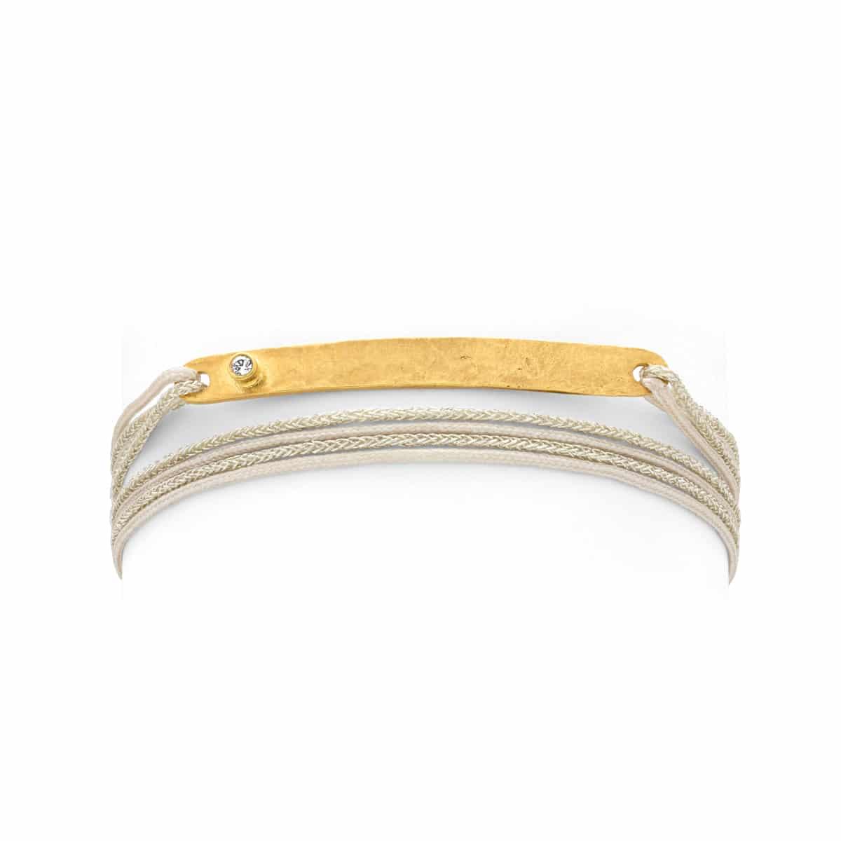 Bracelet feuille edelweiss Atelier de Famille