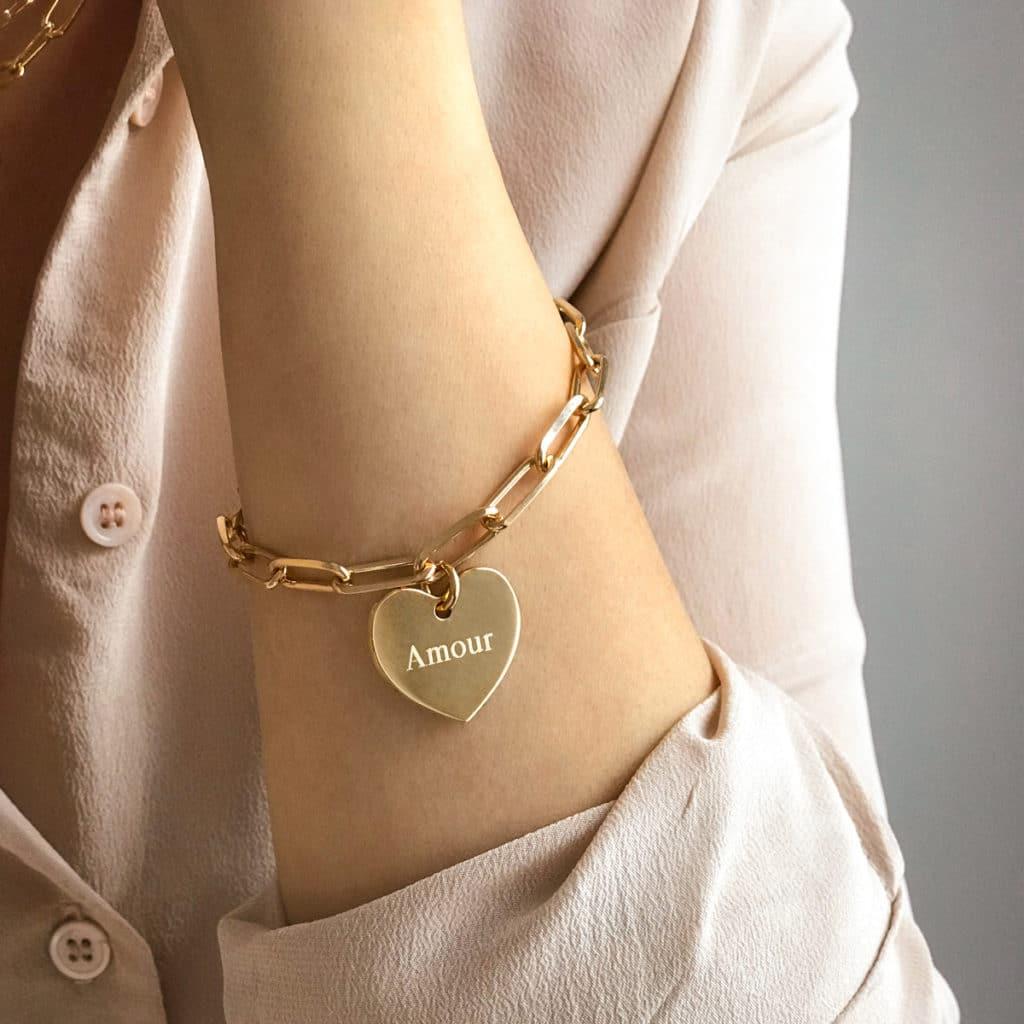 Bracelet-chaine-amour-porte_ Atelier de Famille