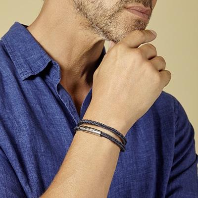 bracelet personnalisé homme, bracelet tresse homme Atelier de Famille
