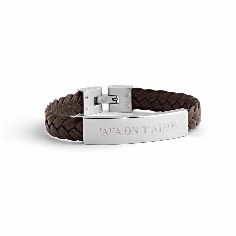 bracelet_cuir_tress_homme_Atelier de Famille