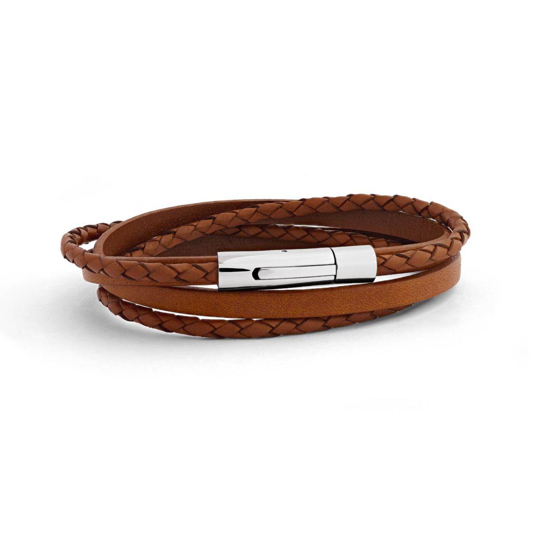 bracelet_le_tress_cuir homme_Atelier de Famille