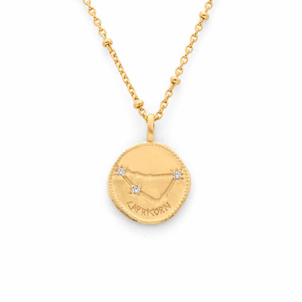 Medailles astrologiques chaine perle - Atelier de Famille
