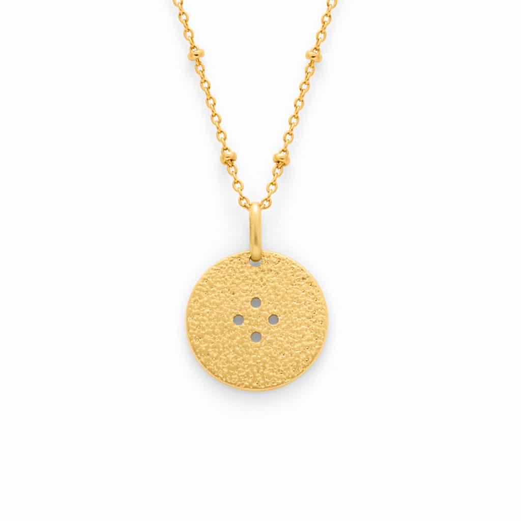 medaille helios chaine perlee Atelier de Famille
