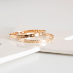 Bracelet Jonc Plaqué Or, Jonc plaqué or, bracelet jonc - Atelier de Famille