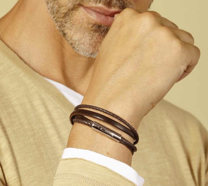 Bracelet Cuir Homme Tendance - Bijoux Homme | Atelier de Famille